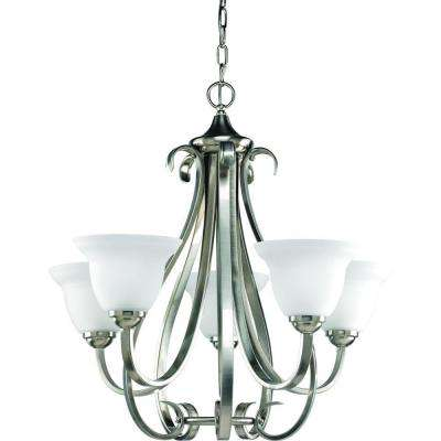 Torino Collection 5-Light Brushed Nickel Chandelier