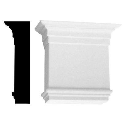 2-3/4 in. x 7-1/4 in. x 8 in. Primed Polyurethane Tuscan Capital Moulding