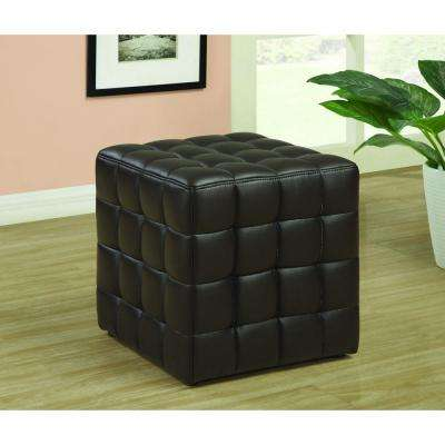 Dark Brown Accent Ottoman