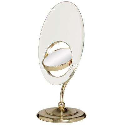 Tri-Optics Vanity Mirror in Brass