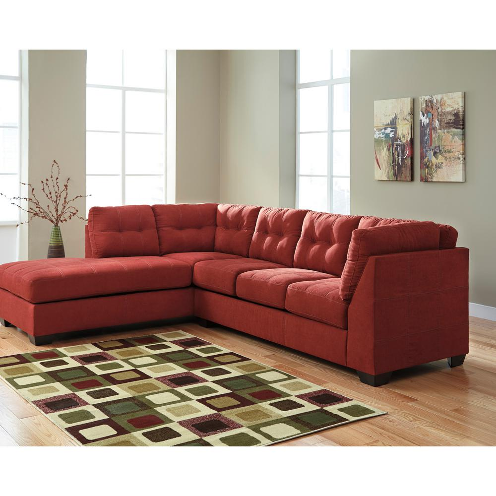Flash Furniture Benchcraft Maier Sienna Microfiber Sectional With Left Side Facing Chaise