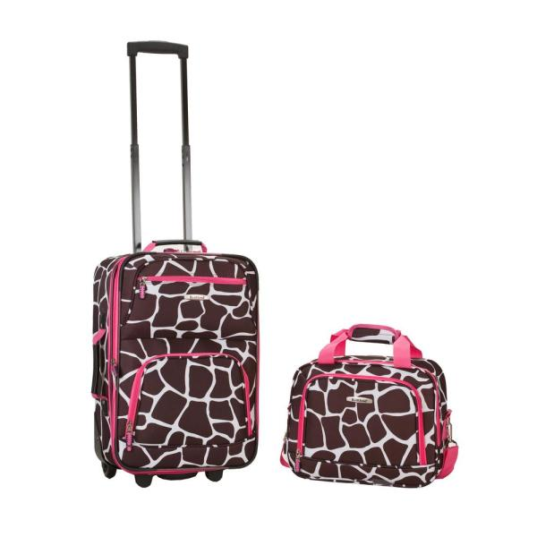 e416e8fc7 Rockland Rockland Rio Expandable 2-Piece Carry On Softside Luggage Set,  Pinkgiraffe
