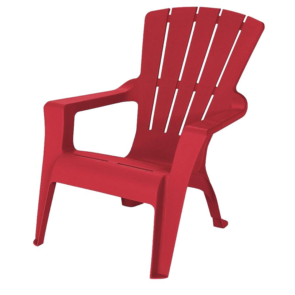 Chili Resin Plastic Adirondack Chair 240856 The Home Depot