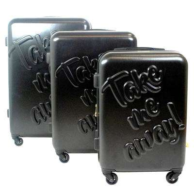 Take me Away 29 in., 25 in., and 21 in. 3-Piece Black Nested Luggage Set