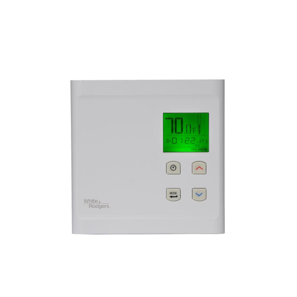 WHITERODGERS White Rodgers 5-2 Day Line Voltage Programmable Thermostat