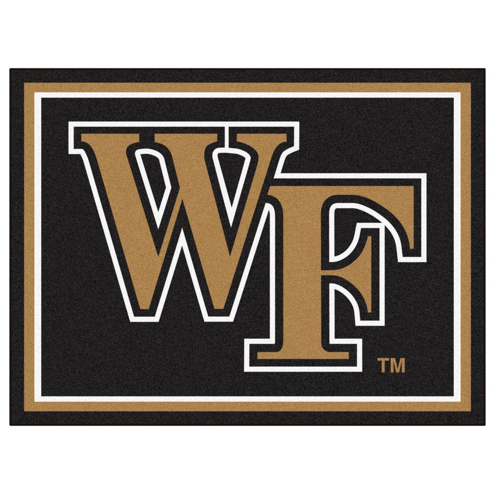 FANMATS NCAA - Wake Forest University Black 10 ft. x 8 ft. Indoor ...