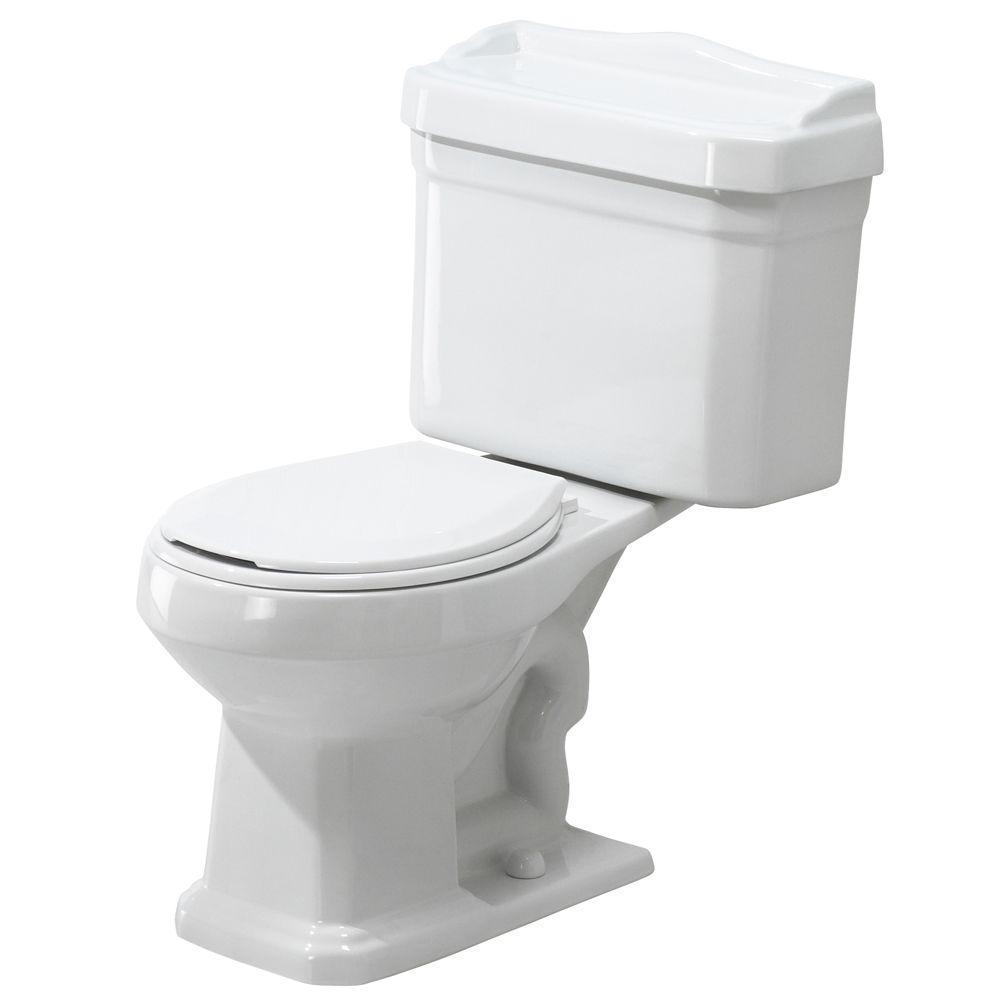 Series 1930 2-Piece 1.6 GPF Single Flush Round Toilet Combo in White