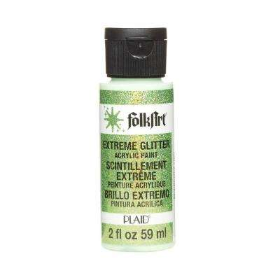 2 oz. Neon Green Extreme Glitter Craft Paint