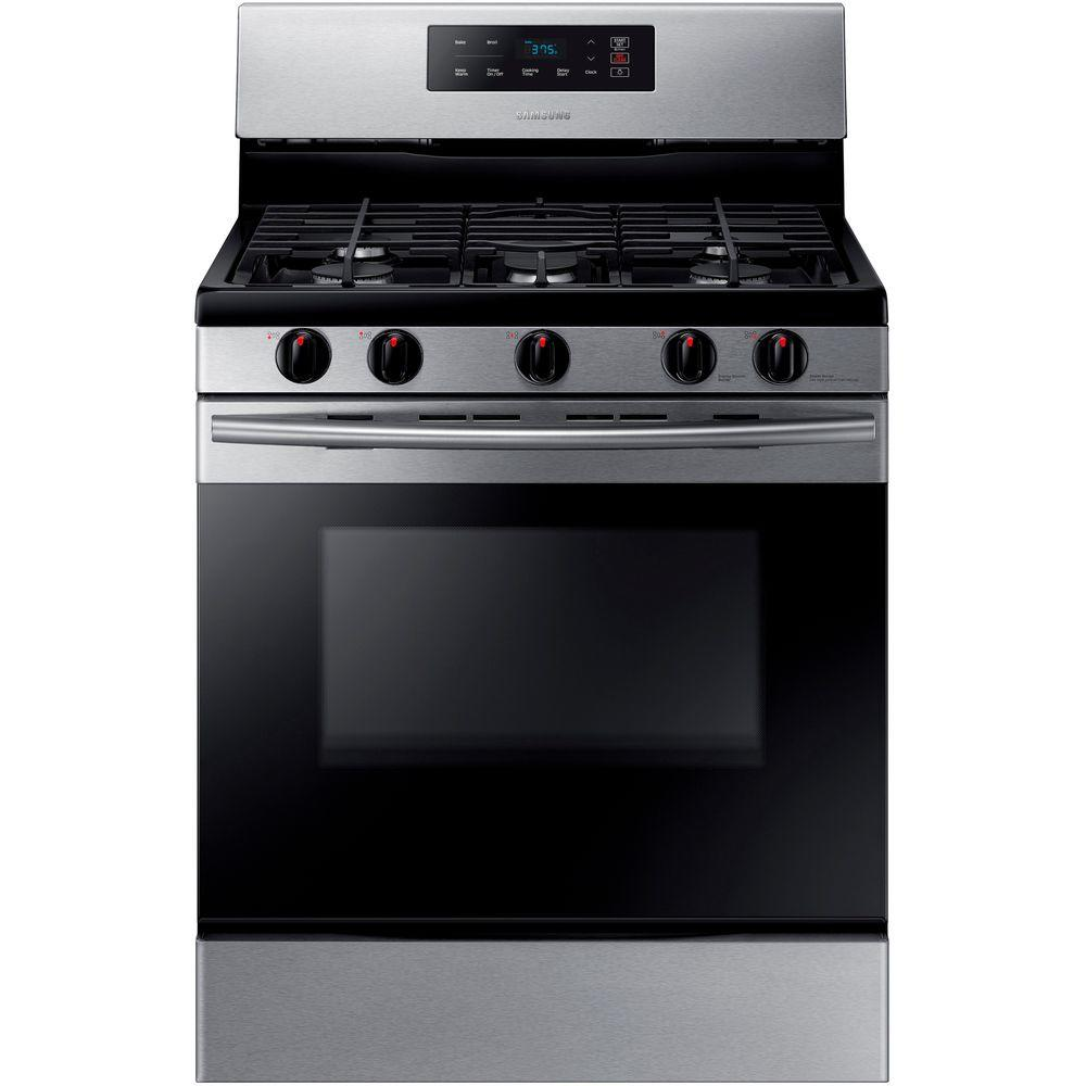 30 in. 5.8 cu. ft. Single Oven Gas Range in Stainless