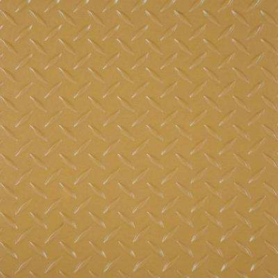 RaceDay 12 in. x 12 in. Gold Peel and Stick Diamond Tread Polyvinyl Tile (20 sq. ft. / case)