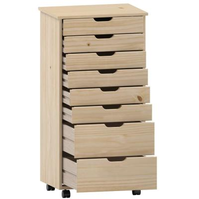 McLeod Natural Eight Drawer Rolling Storage Cart