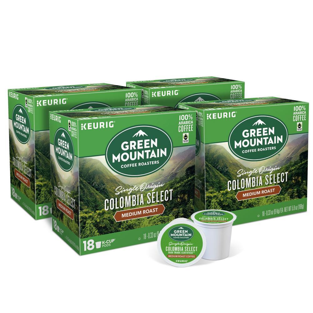 Keurig Green Mountain Colombian Fair Trade K-Cups (72-Counts)