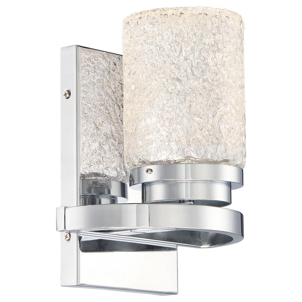 Cubism Bath Bar By George Kovacs: George Kovacs Brilliant Chrome Integrated LED Bath Light-P5321-077-L