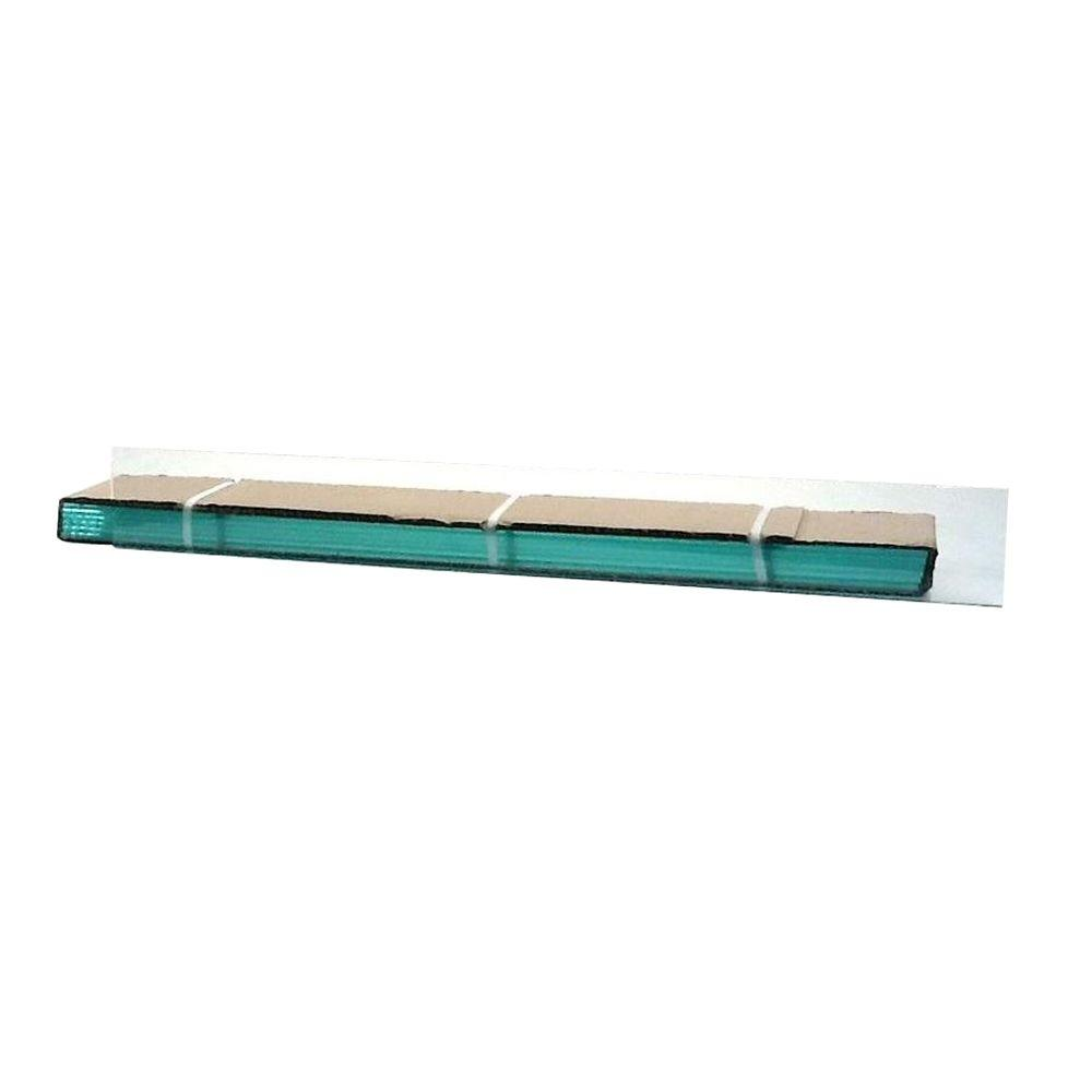 TAFCO WINDOWS 23.25 in. x 4 in. Jalousie Slats of Glass with Clear Polished Edges 5/CA