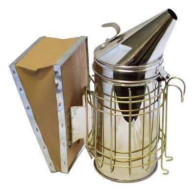 Bee Hive Smoker with Heat Shield Stainless Steel Beekeeping Equipment