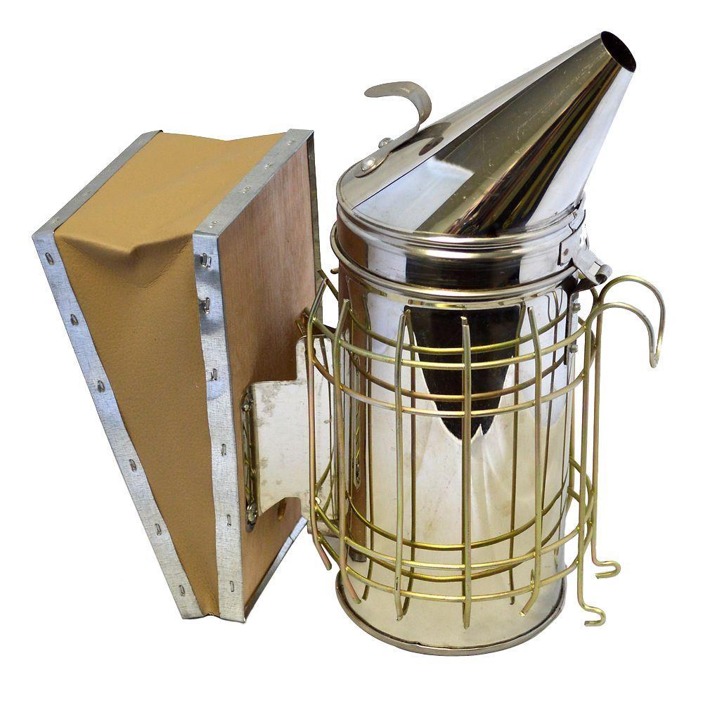 Bee Hive Smoker with Heat Shield Stainless Steel Beekeeping Equipment