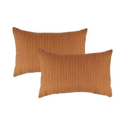 Sunbrella Dupione Nectarine Boudoir Outdoor Pillow (set of 2)
