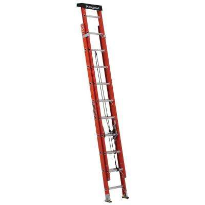 20 ft. Fiberglass Extension Ladder w/ProTop with 300 lbs. Load Capacity Type IA Duty Rating
