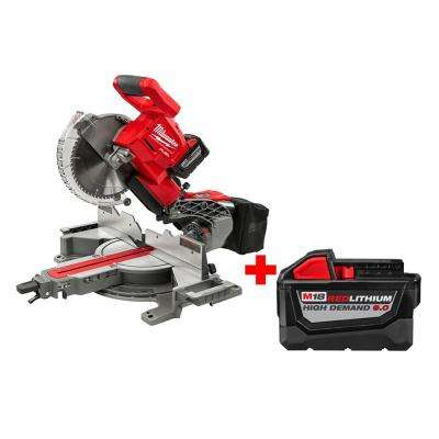 M18 18-Volt FUEL Lithium-Ion Brushless Cordless 10 in. Dual Bevel Sliding Compound Miter Saw Kit with Free 9AH Battery
