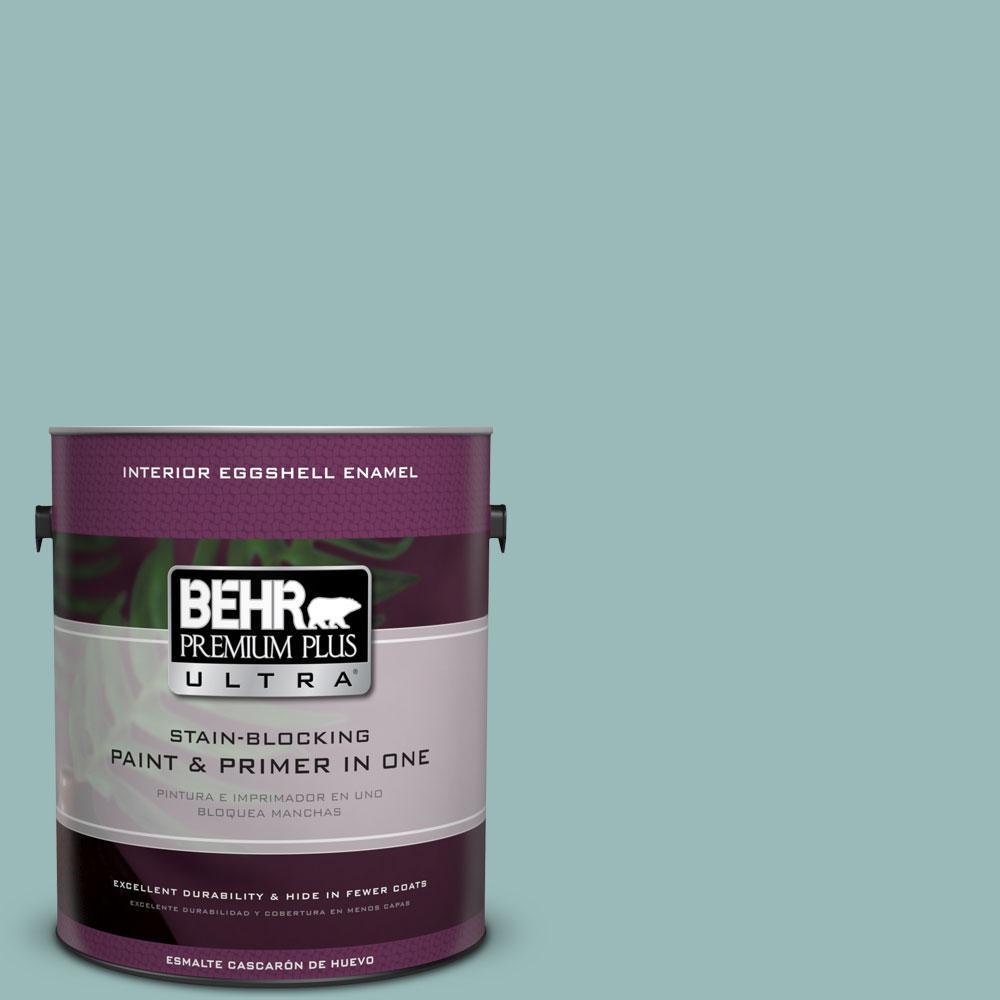 BEHR Premium Plus Ultra 1-gal. #PPU12-6 Lap Pool Blue Eggshell Enamel Interior Paint
