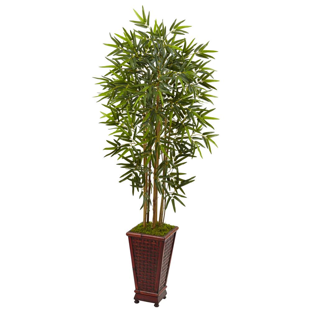 Indoor Bamboo Artificial Tree in Decorative Planter