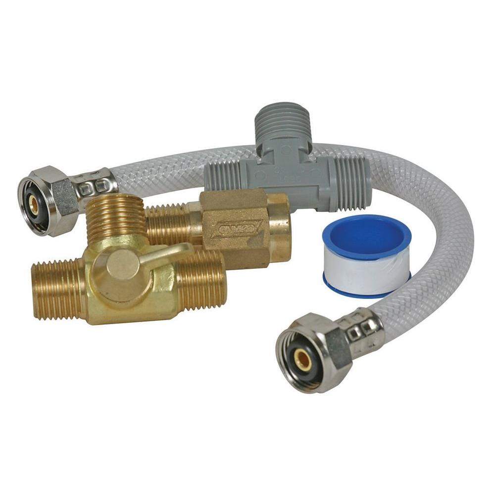 camco quick turn rv permanent by pass kit 35983 the home depot rh homedepot com  rv hot water heater bypass valve diagram
