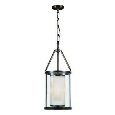 Candle style hampton bay pendant lights lighting the home depot 3 light rheno bronze foyer pendant aloadofball Gallery