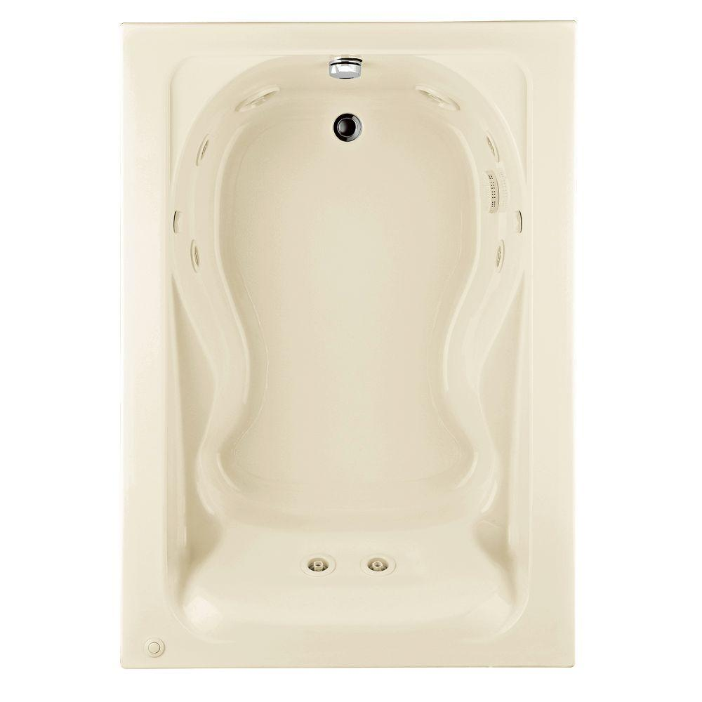 Cadet 60 in. x 42 in. Reversible Whirlpool Tub in Linen