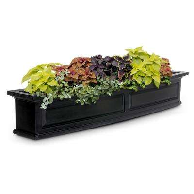 5 ft. Nantucket Black Plastic Window Box