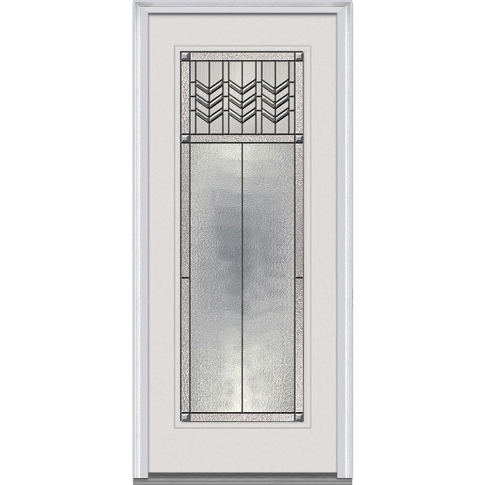 MMI Door 34 In. X 80 In. Prairie Bevel Right Hand Full Lite