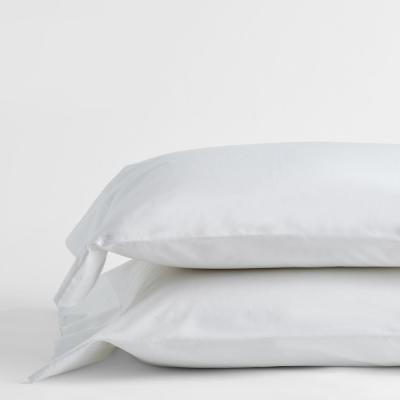 Company Cotton White Solid 300 Thread Count Percale King Pillowcase (Set of 2)