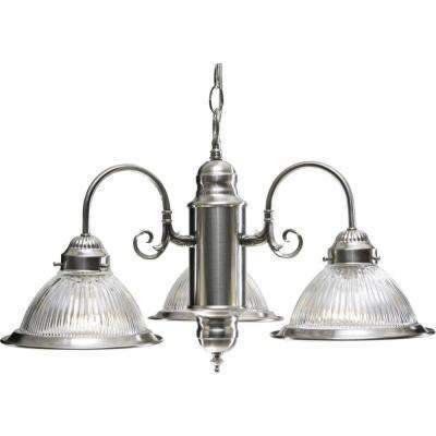 Roth 3-Light Brushed Nickel Interior Chandelier
