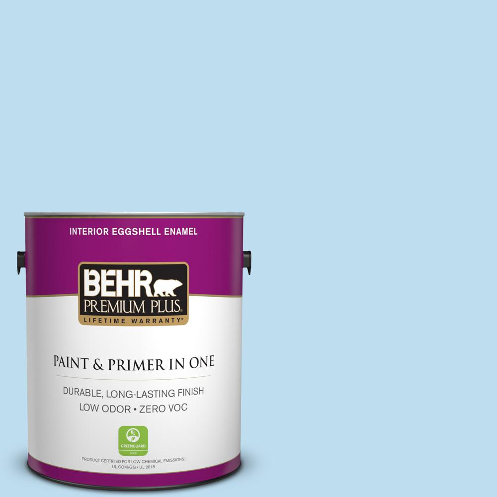 BEHR Premium Plus 1-gal. #550A-2 Tropical Pool Zero VOC Eggshell Enamel Interior Paint