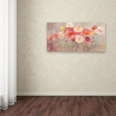 """24 in. x 47 in. """"Wild Poppies I"""" by Li Bo Printed Canvas Wall Art"""