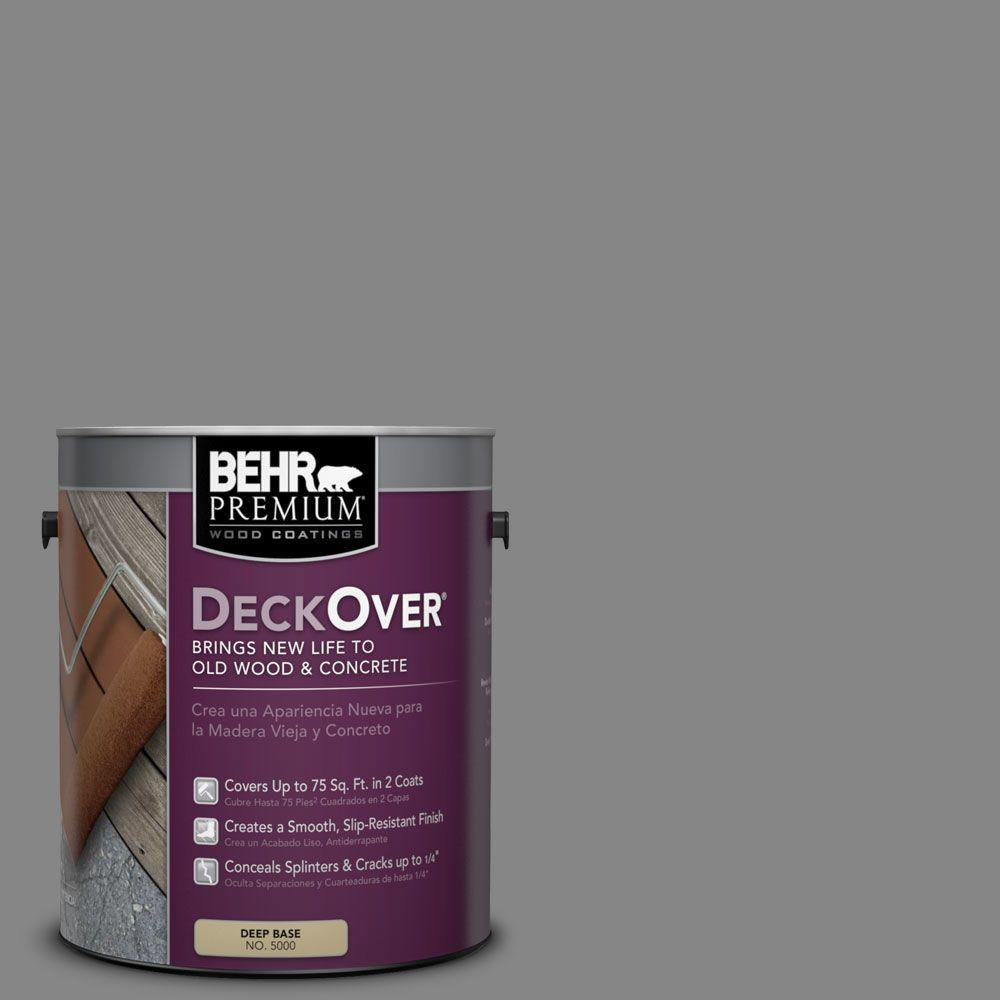 BEHR Premium DeckOver 1 gal. #PFC-63 Slate Gray Solid Color Exterior Wood and Concrete Coating