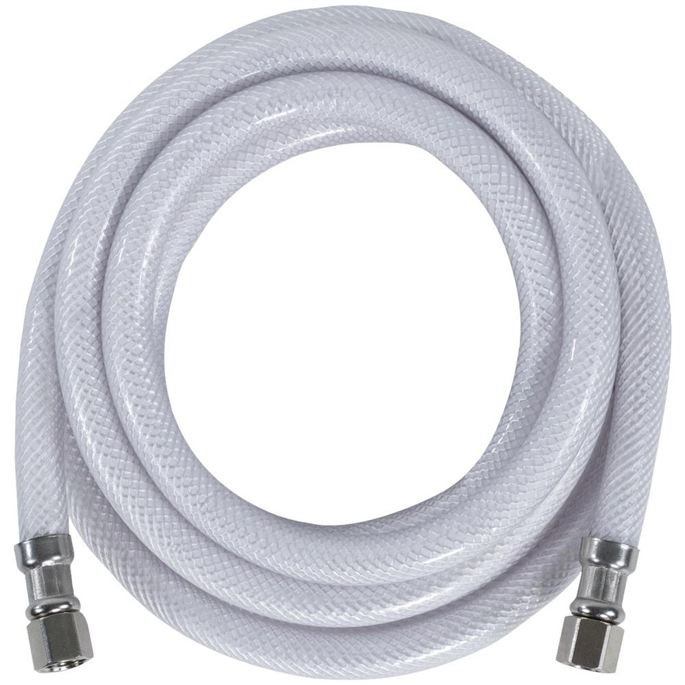 CERTIFIED APPLIANCE ACCESSORIES 10 ft. PVC Ice Maker Connector, White For years, licensed plumbers, electricians and appliance installers have relied on CERTIFIED APPLIANCE ACCESSORIES for their power cords, hoses and connectors. Now you can too. Enjoy the convenience offered by this PVC ice maker connector from CERTIFIED APPLIANCE ACCESSORIES. Its flexibility and durability ensure a reliable connection for your next home installation project. This hose has been thoroughly tested and is backed by a 5-year limited warranty. Check your appliance's manual for the correct specifications to ensure this is the right connector hose for you. Thank you for choosing CERTIFIED APPLIANCE ACCESSORIES Your Appliance Connection Solution. Color: White.