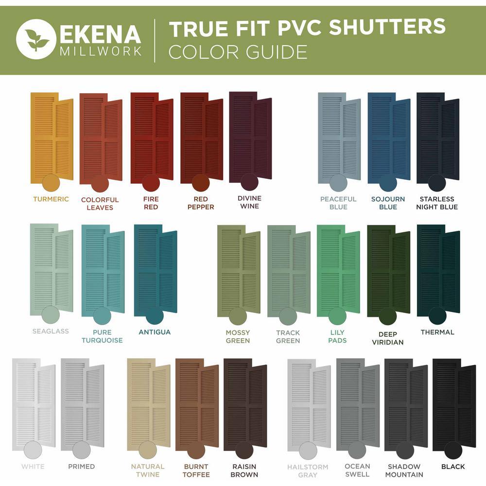 Ekena Millwork 10 3 4 X 63 True Fit Pvc Two Board Joined Board N Batten Shutters Thermal Green Per Pair 1572045 The Home Depot