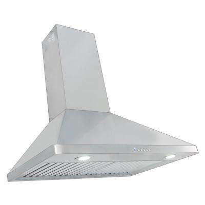 30 in. 900 CFM Ducted Wall Mount with Light in Stainless Steel