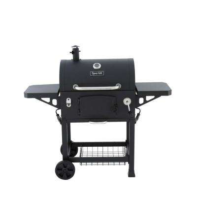 Heavy-Duty Charcoal Grill in Black