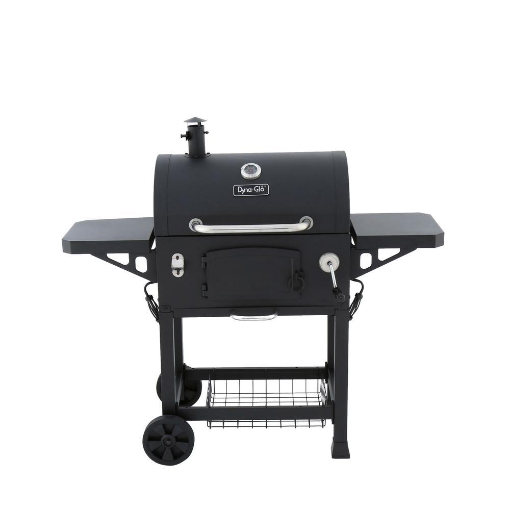 Heavy-Duty Charcoal Grill in Black