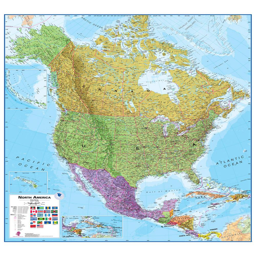 Waypoint Geographic North America 1 7 Wall Map Wphd Milnamer The