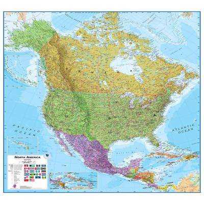 North America 1:7 Wall Map