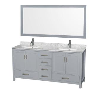 Wyndham Collection Sheffield 72 inch W x 22 inch D Vanity in Gray with Marble... by Wyndham Collection