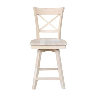 Charlotte 24 in. H Unfinished Swivel Counter Stool