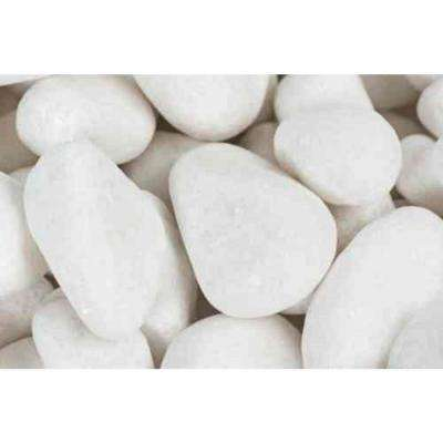 0.4 cu. ft. 0.5 in. to 1 in. Snow White Pebble (64-Pack Pallet)