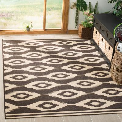 Cream Brown Area Rugs Rugs The Home Depot