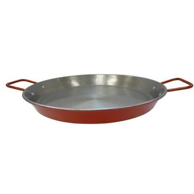 15 in. Carbon Steel Paella Pan in Silver