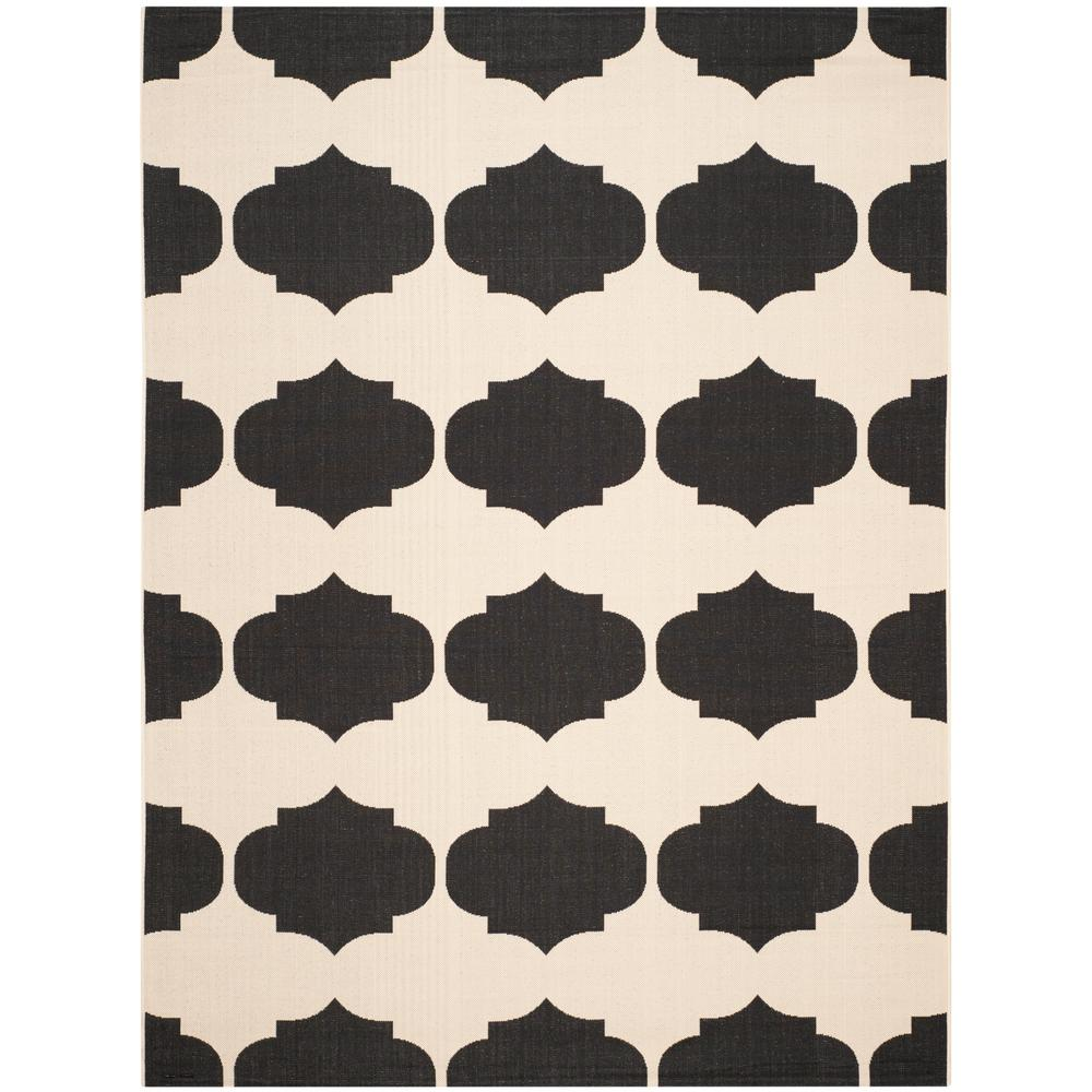 Safavieh Courtyard Beige Black 9 Ft X 12 Ft Indoor