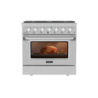 36 in. 5.2 cu.ft. Gas Range with Single Oven in Stainless Steel