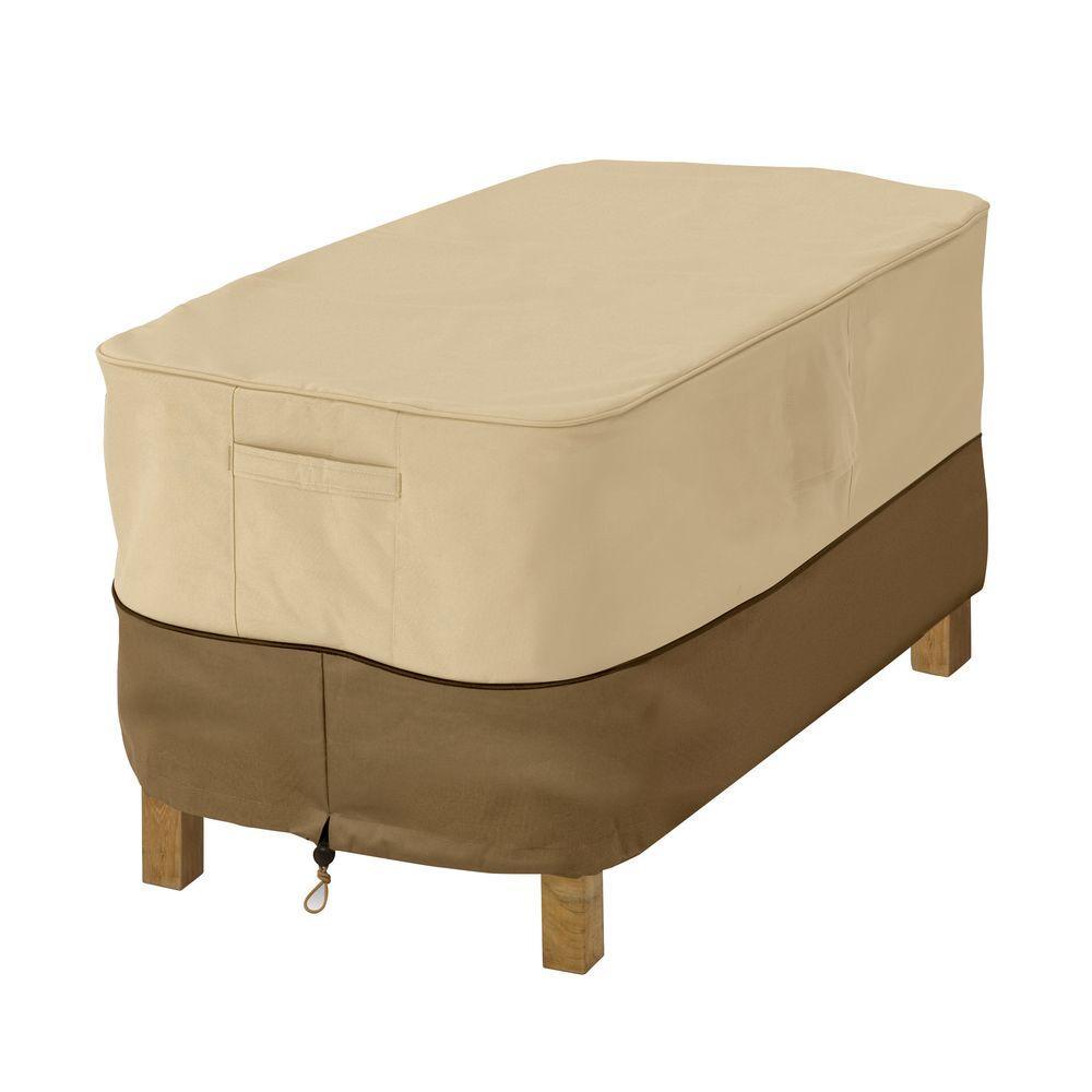 Classic accessories veranda large rectangular patio ottoman table cover 72912 the home depot
